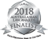 2018 Australasian Law Awards Finalist - State Regional Firm of the Year