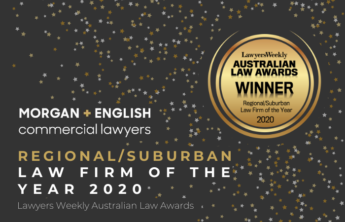 M+E Winners of Australian Law Awards Regional/Suburban Law Firm of the Year